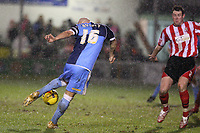 Photo: Pete Lorence.<br />Lincoln City v Wycombe Wanderers. Coca Cola League 2. 30/12/2006.<br />Tommy Mooney slams the ball in on goal.