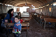 Children in the school at Atmeh camp, for displaced Syrians.  Around 12,000 IDP now live in the camp. December 2nd 2012, Atmeh, Syria.