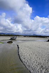 July 21, 2019 - Connemara Landscape With Boat, County Galway, Ireland (Credit Image: © Peter Zoeller/Design Pics via ZUMA Wire)