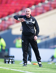 Falkirk's manager Peter Houston. <br /> Hibernian 0 v 1 Falkirk, William Hill Scottish Cup semi-final, played 18/4/2015 at Hamden Park, Glasgow.