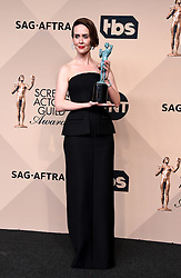Stars in the 23rd Annual Screen Actors Guild Awards Press Room in Los Angeles, California. 29 Jan 2017 Pictured: Sarah Paulson. Photo credit: MEGA TheMegaAgency.com +1 888 505 6342