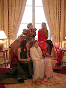 English debs: the hon Katie Green and Florence Brudenell Bruce ( above) Genevieve Chapman, hon Naomi Gummer and Natasha Rufus-Isaacs ( Lower row) 2002 Debutanes getting ready. Crillon. Paris Friday, 6 December 2002. © Copyright Photograph by Dafydd Jones 66 Stockwell Park Rd. London SW9 0DA Tel 020 7733 0108 www.dafjones.com