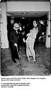 Swifty Lazar at his last Oscar Night  Party. Spago's. Los Angeles. March 1993. Film. 93251f19<br /><br />© Copyright Photograph by Dafydd Jones<br />66 Stockwell Park Rd. London SW9 0DA<br />Tel 0171 733 0108