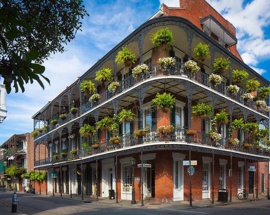 "The French Quarter, also known as the Vieux Carré, is the oldest neighborhood in the city of New Orleans. When New Orleans (La Nouvelle-Orléans in French) was founded in 1718 by Jean-Baptiste Le Moyne de Bienville, the city was originally centered on the French Quarter, or the Vieux Carré (""Old Square"" in French) as it was known then. While the area is still referred to as the Vieux Carré by some, it is more commonly known as the French Quarter today, or simply ""The Quarter."" The district as a whole is a National Historic Landmark, and contains numerous individual historic buildings. It was affected relatively lightly by Hurricane Katrina in 2005, as compared to other areas of the city and the greater region."