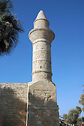 Turret of the mosque, erected by Moslems from Bosnia, Caesarea, Israel.