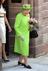 Queen Elizabeth II after attending a lunch at Chester Town Hall
