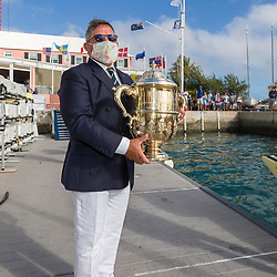 Royal Bermuda Yacht Club Commodore David Benevides. Bermuda Gold Cup and Open Match Racing World Championship. Royal Bermuda Yacht Club, Hamilton, Bermuda. Day Five. 30th October 2020.