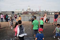 Bubbles entertainer, South Bank, London UK