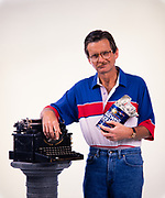 Lewis Grizzard with his beloved typewriter and coffee can filled with money that he wrote about in his columns. Grizzard was an American writer and humorist, known for his Southern demeanor and commentary on the American South. Although he spent his early career as a newspaper sports writer and editor, becoming the sports editor of the Atlanta Journal at age 23, he is much better known for his humorous newspaper columns in the Atlanta Journal-Constitution. He was also a popular stand-up comedian and lecturer. Lewis Grizzard with his beloved typewriter and coffee can filled with money that he wrote about in his columns. Grizzard was an American writer and humorist, known for his Southern demeanor and commentary on the American South. Although he spent his early career as a newspaper sports writer and editor, becoming the sports editor of the Atlanta Journal at age 23, he is much better known for his humorous newspaper columns in the Atlanta Journal-Constitution. He was also a popular stand-up comedian and lecturer. Lewis McDonald Grizzard Jr. (October 20, 1946 – March 20, 1994) was an American writer and humorist, known for his Southern demeanor and commentary on the American South. Although he spent his early career as a newspaper sports writer and editor, becoming the sports editor of the Atlanta Journal at age 23, he is much better known for his humorous newspaper columns in the Atlanta Journal-Constitution. He was also a popular stand-up comedian and lecturer.<br />