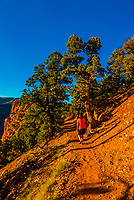 Hiking on the Harpers Corner Trail, Dinosaur National Monument, Colorado USA.