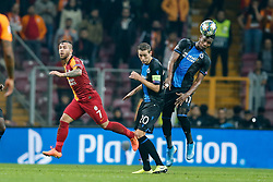 November 26, 2019, Galatasaray, Turkey: Galatasaray's Adem Buyuk, Club's Hans Vanaken and Club's Simon Deli fight for the ball during a game between Turkish club Galatasaray and Belgian soccer team Club Brugge, Tuesday 26 November 2019 in Istanbul, Turkey, fifth match in Group A of the UEFA Champions League. (Credit Image: © Bruno Fahy/Belga via ZUMA Press)
