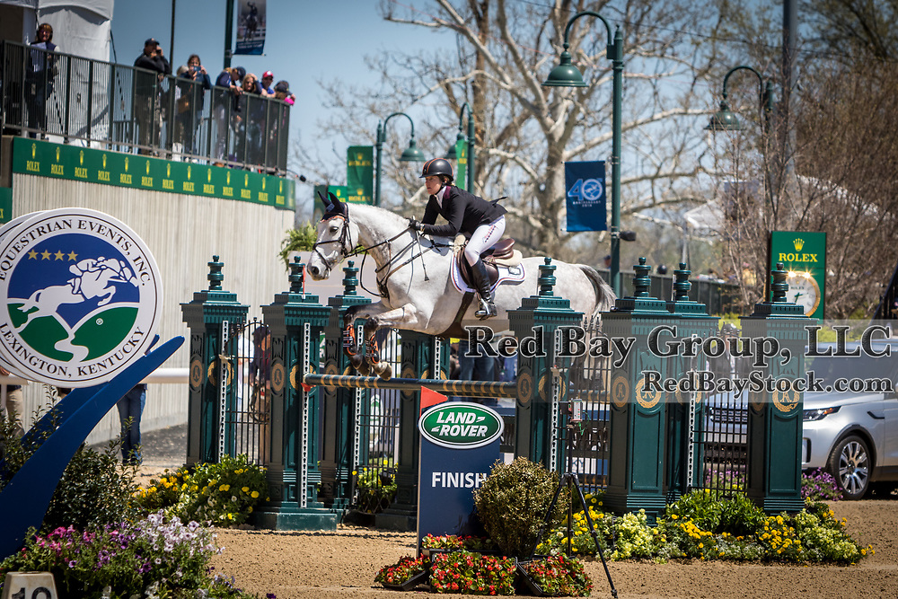 Sharon White (USA) and Cooley On Show during the show jumping phase of the 2018 Land Rover Kentucky Three-Day Event in Lexington, Kentucky