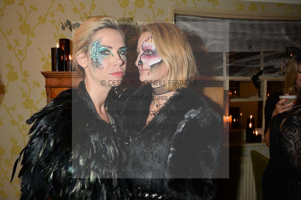 Left to right, LOUISA PRESKETT and ZOE JORDAN at the Bumpkin Halloween Dinner hosted by Marissa Hermer held at Bumpkin, 119 Sydney Street, London on 23rd October 2014.