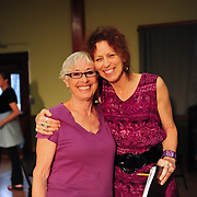 The play's author Brenda Bufalino (Vera)  with director Genevieve Aichele