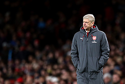 FILE PHOTO: Arsene Wenger is to leave Arsenal at the end of the season, ending a near 22-year reign as manager<br /><br />Arsenal manager Arsene Wenger ... Arsenal v West Ham United - Carabao Cup - Quarter Final - Emirates Stadium ... 19-12-2017 ... London ... UK ... Photo credit should read: Steven Paston/EMPICS Sport. Unique Reference No. 34208206 ...