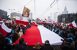 November 11, 2018 - Warsaw, Poland - March on the 100th anniversary of regaining independence by Poland. 11 November, 2018, Warsaw, Poland  (Credit Image: © Krystian Dobuszynski/NurPhoto via ZUMA Press)