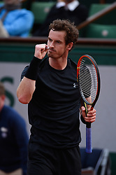 File photo - Great Britain's Andy Murray wears his wedding ring on the lace during his second round match at Roland Garros, Paris, France on MAY, 28, 2015. Andy Murray shocked the tennis world Friday morning in Melbourne when he announced his plans to retire this year during a tearful press conference ahead of the Australian Open. The former world No. 1 had hip surgery in January 2017 and says the pain has become too much to bear. Photo by Corinne Dubreuil/ABACAPRESS.COM