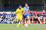 AFC Wimbledon striker Andy Barcham (17) during the Pre-Season Friendly match between AFC Wimbledon and Reading at the Cherry Red Records Stadium, Kingston, England on 23 July 2016. Photo by Stuart Butcher.