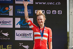 Third place for Emma Norsgaard Jorgensen (DEN) at the 2020 UEC Road European Championships - Under 23 Women Road Race, a 81.9 km road race in Plouay, France on August 26, 2020. Photo by Sean Robinson/velofocus.com