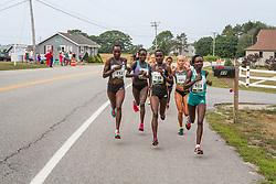 elite women's mile 2, Keitany leads