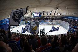 Fans during KHL League ice hockey match between KHL Medvescak Zagreb and Amur Kharabovsk, on October 28, 2013 in Dvorana Sportova, Zagreb, Croatia. (Photo By Matic Klansek Velej / Sportida)