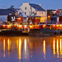 The Moran tubgboats on the Portsmouth, New Hampshire waterfront.