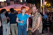 GEORGINA STARR; PAUL NOBLE, Tate Britain Summer Party 2009. Millbank. London. 29 June 2009