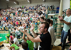 during basketball match between KK Krka Novo mesto and  KK Petrol Olimpija in 4th Final game of Liga Nova KBM za prvaka 2017/18, on May 27, 2018 in Sports hall Leona Stuklja, Novo mesto, Slovenia. Photo by Vid Ponikvar / Sportida