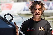 IMOCA Ocean Masters. New York - Barcelona Race start. Pictures of Neutrogena skipper Guillermo Altadill (ESP) Credit: Mark Lloyd/Lloyd Images