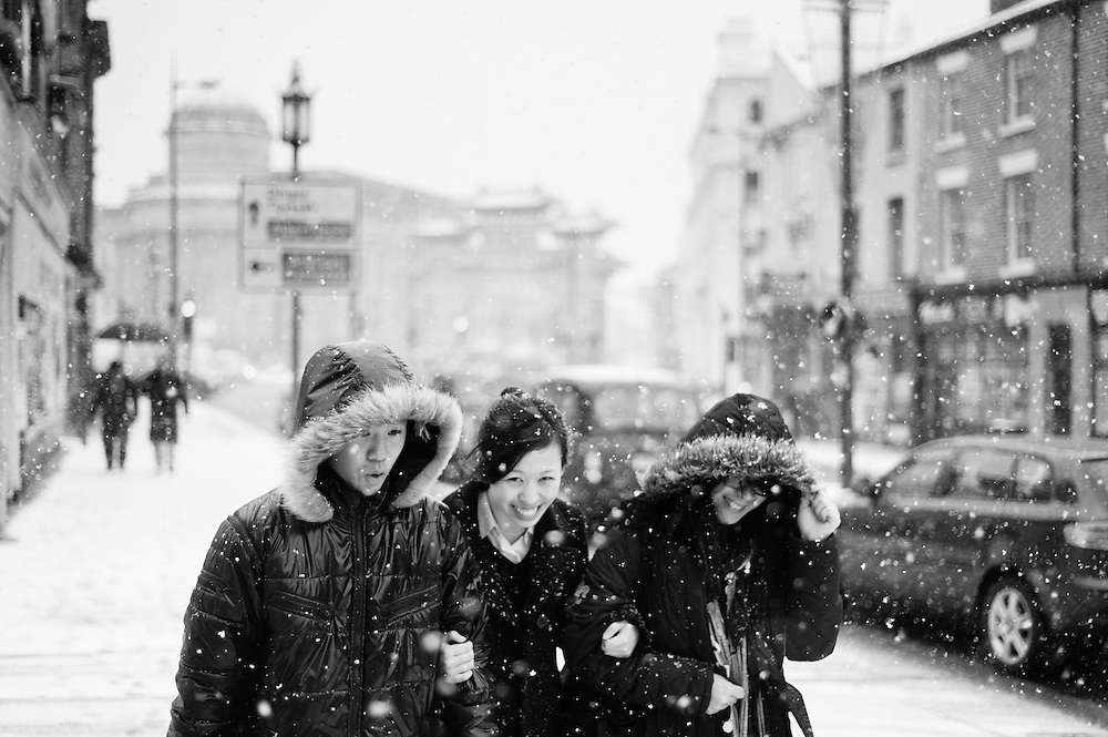 Snow on Berry Street, Liverpool.