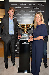 LUKE TOMLINSON and The MARCHIONESS OF MILFORD HAVEN at the Jaeger-LeCoultre Gold Cup draw 2016 held at Jaeger-LeCoultre, Bond Street, London on 6th June 2016.