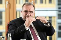 03 MAY 2021, BERLIN/GERMANY:<br /> Siegfried Russwurm, Praesident Bundesverband der Deutschen Industrie, BDI, und Aufsichtsratschef Thyssenkrupp, waehrend einem Interview, BDI, Haus der Wirtschaft<br /> IMAGE: 20210503-02-020