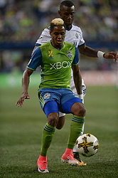 September 27, 2017 - Seattle, WASHINGTON, U.S - Sounders defender JOEVIN JONES (33) in action as the Vancouver Whitecaps visit the Seattle Sounders for an MLS match at Century Link Field in Seattle, WA. (Credit Image: © Jeff Halstead via ZUMA Wire)