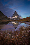 The iconic, pyramid-shaped Matterhorn peak, 4,478 metres high, 14,692ft.