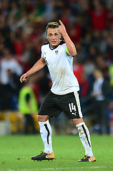 Julian Baumgartlinger of Austria cuts a frustrated figure - Mandatory by-line: Dougie Allward/JMP - 02/09/2017 - FOOTBALL - Cardiff City Stadium - Cardiff, Wales - Wales v Austria - FIFA World Cup Qualifier 2018
