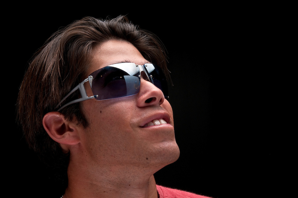 Portrait of young guy with sunglasses.