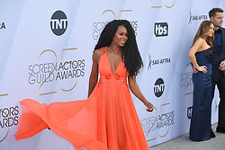January 27, 2019 - Los Angeles, California, U.S - SYDELLE NOEL during silver carpet arrivals for the 25th Annual Screen Actors Guild Awards, held at The Shrine Expo Hall. (Credit Image: © Kevin Sullivan via ZUMA Wire)