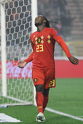 2018?11?16?.    ??????——?????????????.    11?15????????Michy Batshuayi?????????.    ??????????????????????A??2????????????2?0??????.    ????????? ?32?0?496539019..SP-FOOTBALL-UEFA NATIONS LEAGUE-BELGIUM-ICELAND.Michy Batshuayi of Belgium celebrates after scoring a goal during a League A Group 2 match of the UEFA Nations League between Belgium and Iceland at the King Baudouin Stadium in Brussels, Belgium, Nov. 15, 2018. Belgium beat Iceland by 2-0. (Credit Image: © Zheng Huansong/Xinhua via ZUMA Wire)