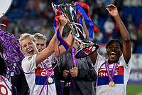 Ada Hegerberg of Olympique Lyon celebrates with the trophy during the UEFA Women's Champions League Final between Lyon Women and Paris Saint Germain Women at the Cardiff City Stadium, Cardiff, Wales on 1 June 2017. Photo by Giuseppe Maffia.<br /> <br /> <br /> Giuseppe Maffia/UK Sports Pics Ltd/Alterphotos
