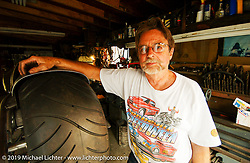 Arlen Ness' fabricator, Bob Mun Munroe, at Bob's shop. CA. Photography ©200 Michael Lichter.