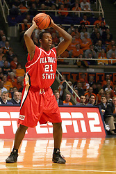 02 January 2004  Marcus Arnold. Illinois State University ties up The Fightin Illini in regulation but fails to top the Big 10 team in overtime. Action took place at the Assembly Hall on the University of Illinois Campus in Champaign - Urbana Illinois.