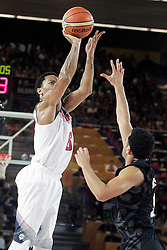 02.09.2014, City Arena, Bilbao, ESP, FIBA WM, USA vs Neuseeland, im Bild USA's Derrick Rose (l) and New Zealand's Corey Webster // during FIBA Basketball World Cup Spain 2014 match between USA and New Zealand at the City Arena in Bilbao, Spain on 2014/09/02. EXPA Pictures © 2014, PhotoCredit: EXPA/ Alterphotos/ Acero<br /> <br /> *****ATTENTION - OUT of ESP, SUI*****
