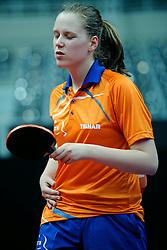 09-05-2011 TAFELTENNIS: WORLD TABLE TENNIS CHAMPIONSHIPS: ROTTERDAM<br /> Suzanne Dieker NED<br /> ©2011-FotoHoogendoorn.nl
