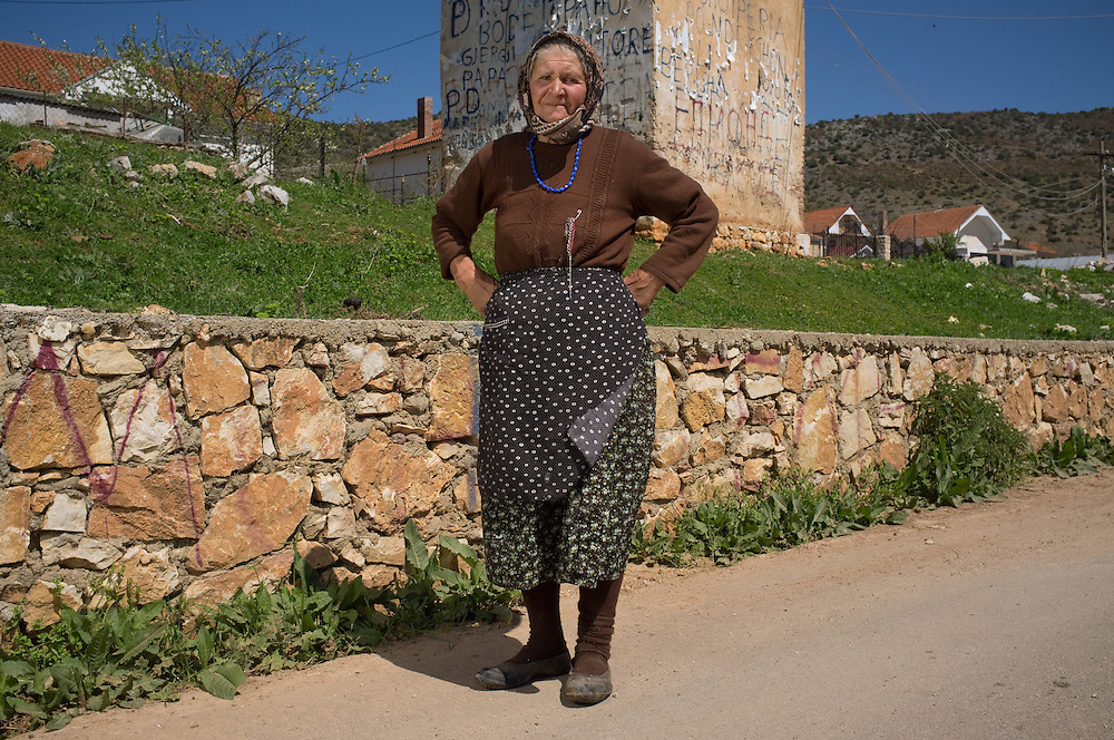 Pola Burmo (70) in the village of Kallamas, Albania