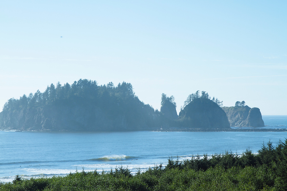 Surfers in La Push, WA.