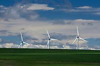 Wind Turbines in wheat fields on the Columbia Plateau, Oregon