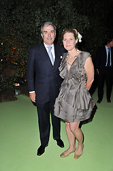 MR & MRS LAURIE OPPENHEIM at a dinner hosted by Cartier in celebration of the Chelsea Flower Show held at Battersea Power Station, 188 Kirtling Street, London SW8 on 23rd May 2011.