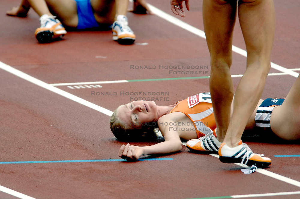 10-08-2006 ATLETIEK: EUROPEES KAMPIOENSSCHAP: GOTHENBORG <br /> Miranda Boonstra heeft zich met een Nederlands record geplaatst voor de finale van de 3000 meter steeple tijdens de Europese atletiekkampioenschappen in Goteborg.<br /> ©2006-WWW.FOTOHOOGENDOORN.NL