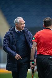 Falkirk's manager Ray McKinnon. Falkirk 1 v 2 Alloa Athletic, Scottish Championship game played 6/4/2019 at The Falkirk Stadium.
