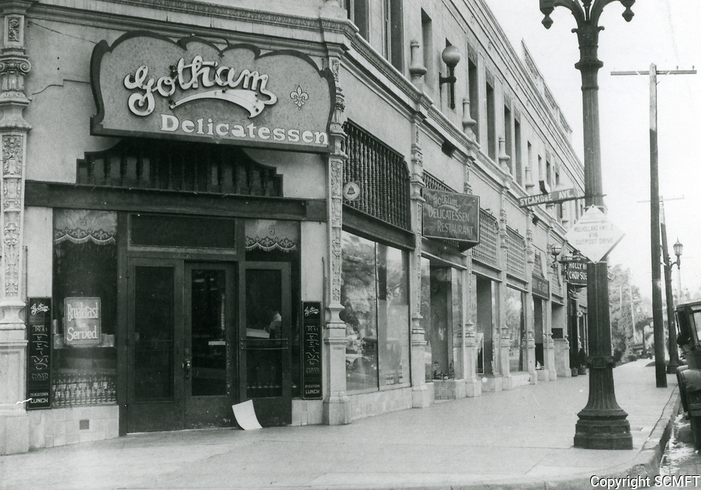 1928 Gotham's Delicatessen at Hollywood Blvd. & Sycamore Ave.